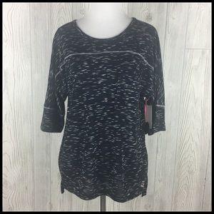 Cuddl Duds S Sleep Lounge Shirt Black White NWT